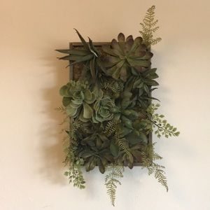 Other - Faux Succulent Tray Wall-hanging